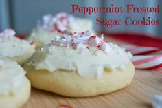 Peppermint Frosted Sugar Cookies - 365 Days of Baking