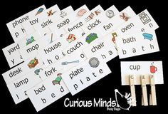 Word Cards House Pets Zoo Bugs Cars and by CuriousMindsBusyBags