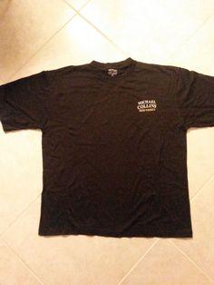 Michael Collins Irish Whiskey Black  T-Shirt Size LARGE 100% Cotton Tagless New #MichaelCollinsIrishWhiskey