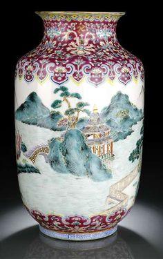 Daoguang Famille Rose Vase. Nagel Auction