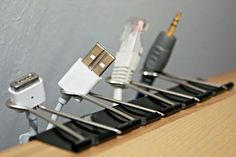 DiY cord organizer and holder! How simple and marvelous!