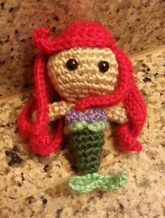 Another one to the collection.  Just finished!  Ariel The Little Mermaid Amigurumi Doll - Pattern by Sahrit