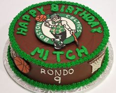 Connors next bday cake  Boston Celtics Cake!!!