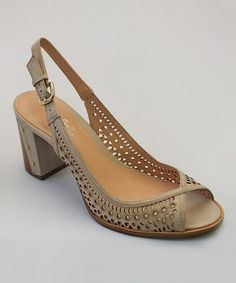 Loving this Taupe Bench Leather Slingback on #zulily! #zulilyfinds