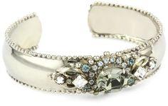 "Sorrelli ""Pewter"" Crystal Vintage Style Silver-Tone Cuff Bracelet"