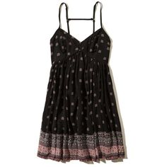 Patterned Babydoll Dress Girls (4.180 RUB) ❤ liked on Polyvore featuring dresses and vestidos