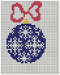 Snowflake bauble ornament chart