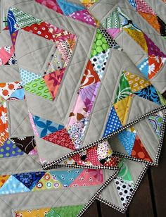 Half triangle quilt - more traditional than I normally gravitate towards but I do like the pattern...