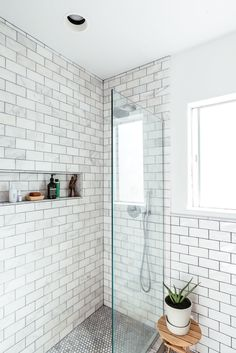 There was no space for a bathtub, but Danielle wanted a spacious shower to give the bathroom a luxurious feel. The couple got the marble pattern tiles from The Builder Depot.