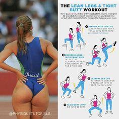 Best Bodybuilding Program: The Lean Legs Tight Butt Workout - The Best Bodyb. Fitness Workouts, Fitness Motivation, Sport Fitness, Body Fitness, Fitness Goals, At Home Workouts, Fitness Tips, Health Fitness, Health Diet