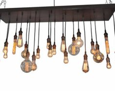 Edison Bulb Moment- Industrial Chandelier Rustic Chandelier Ceiling Light Fixture Modern Lighting Urban Lighting by IndustrialLightworks USD) Edison Bulb Chandelier, Wine Bottle Chandelier, Edison Lampe, Industrial Chandelier, Rustic Industrial, Modern Rustic, Chandelier Lighting, Edison Bulbs, Modern Light Fixtures