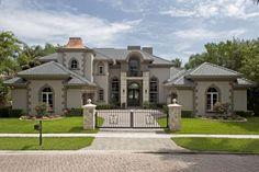 Dream House Exterior, Dream House Plans, Big Houses Exterior, Style At Home, Dream Home Design, Modern House Design, Dream Mansion, Modern Farmhouse Exterior, Modern Mansion
