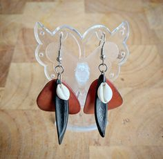 Shell Earrings Statement Earrings Fashion by NatureIreland on Etsy