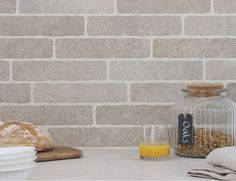 Provence: Natural stone effect Provence brick tiles introduce a warm blend of rustic tones that will soften and warm the industrial lines of kitchen and bathroom fittings. View product: http://www.decorumtiles.co.uk/product-category/metro-tiles/provence-brick/