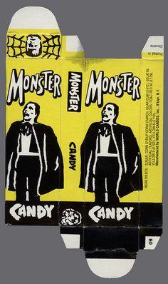 World Candies - Monster Candy box - Phantom - Halloween Haunted Houses, Halloween Candy, Vintage Halloween, Vintage Candy, Vintage Box, Monster Food, Old Candy, Candy Packaging, Vintage Packaging