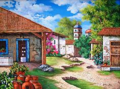 paisajes y pinturas coloniales - Buscar con Google