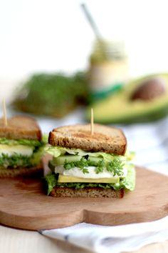 green veggie sandwic