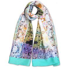 Luxurious Digital Printed silk Wrap. Limited edition printed scarves www.edgeofthemeadow.com