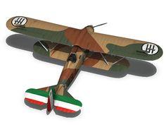 fiat cr 32 - italy airforce - 79 squadriglia 3d model obj fbx c4d lwo lw lws 15