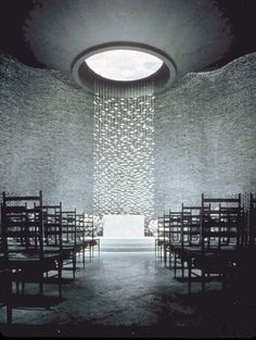 Chapel, facing the altar, by Eero Saarinen at M.I.T. in Cambridge, MA