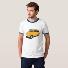 Fiat 600 (Seicento) yellow t-shirt