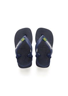 2f8f1a06a Havaianas Baby Brazil Logo Sandal Navy Blue Citrus Yellow Price From  14