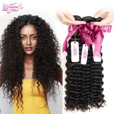 8A Brazilian Virgin Hair Stema Hair Company Brazilian Deep Wave 3/4 PC Brazilian Deep Curly Virgin Hair Deep Wave Brazilian Hair <3 Clicking on the image will lead you to find similar product