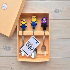 «Набор столовых приборов для малыша  выполнен на заказ и упакован в нашу фирменную упаковку  По вопросам заказа и уточнения цен +79023712819  #миньон…»