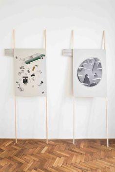 """Poster on Guy Rottier′s """"Maison de vacances volante"""" project"""