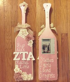 Zeta Tau Alpha paddle I made for my little