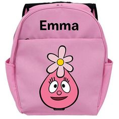 Personalized Yo Gabba Gabba! Foofa Head Pink Backpack Kids Backpacks ff8f9a284dc56