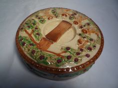 Vintage Divided Covered Dish SQUIRREL Round