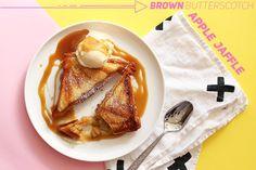 Brown Butterscotch Apple Jaffle