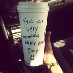 Great way to start the day, with a lovely compliment from a Starbucks Barista #starbuckslove