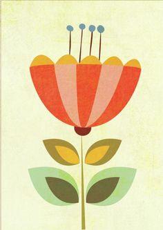 Leading Illustration & Publishing Agency based in London, New York & Marbella. Mid Century Modern Art, Mid Century Art, Fleur Design, Stoff Design, Scandinavian Folk Art, Flower Art, Folk Art Flowers, Ceramic Art, Print Patterns