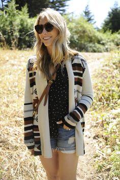 BB Dakota Sweater, UO Shirt, Vince Shorts, VPL Boots