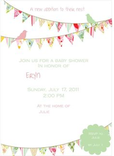 Shabby Chic/Bird nature Baby Shower Party Ideas | Photo 1 of 24 | Catch My Party
