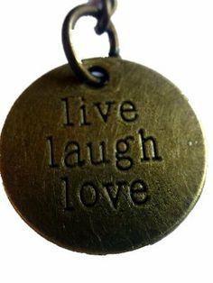 "Inspirational Uplifting Engraved ""live laugh love"" Metal Bronze Tone Key Ring By KeyParcels Gift Wedding favours by KeyParcels, http://www.amazon.co.uk/dp/B00JMJXUAM/ref=cm_sw_r_pi_dp_PYzGtb1N641DE"