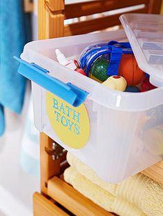 Kid's Bathroom Organizing Ideas