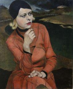 dresdner galerie neue meister | Kurt Eichler, Mädchen im karierten Kleid, 1930, Mischtechnik auf ...