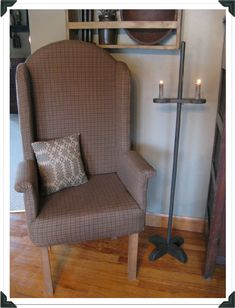 This APP site has patterns and instructions for ALL KINDS of great things.....including this chair and candle stand!!!!  LOVE LOVE A Primitive Place! :-D
