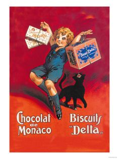 Chocolates from Monaco and Delta Biscuits Premium Poster