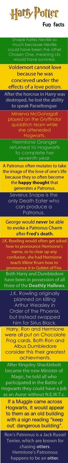Harry Potter Facts  - funny pictures #funnypictures