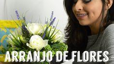 Como montar um arranjo de flores artificiais - DIY                              …