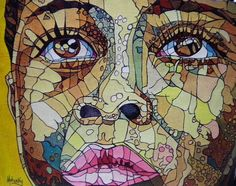 Close African Face  Giclee Print  African Face Print  by bobm2732,