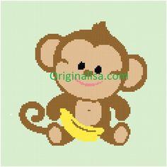 Baby Monkey Crochet Afghan Pattern by Originalisa on Etsy