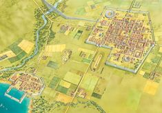 A Roman town, harbour and roads