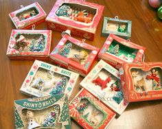 I go through a lot of vintage ornaments, especially the little tiny ones. That… I go through a lot of vintage ornaments, especially the little tiny ones. That's a lot of boxes as well. A few seasons ago I came up w… Vintage Christmas Crafts, Antique Christmas, Vintage Ornaments, Retro Christmas, Christmas Love, Vintage Holiday, Christmas Projects, Holiday Crafts, Holiday Fun