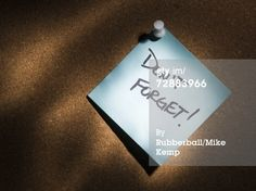 Sticky Note On A Cork Board Royalty-free Image | Getty Images | 72883966