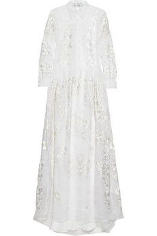 Erdem Lourdes embroidered silk-organza gown  | NET-A-PORTER mother of the bride